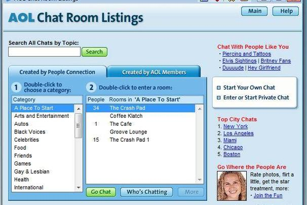 American online chat rooms