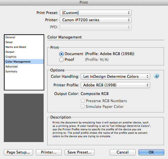 Print In Color Or Grayscale Go To Management Make Sure That The Document Profile And Printer Are Same
